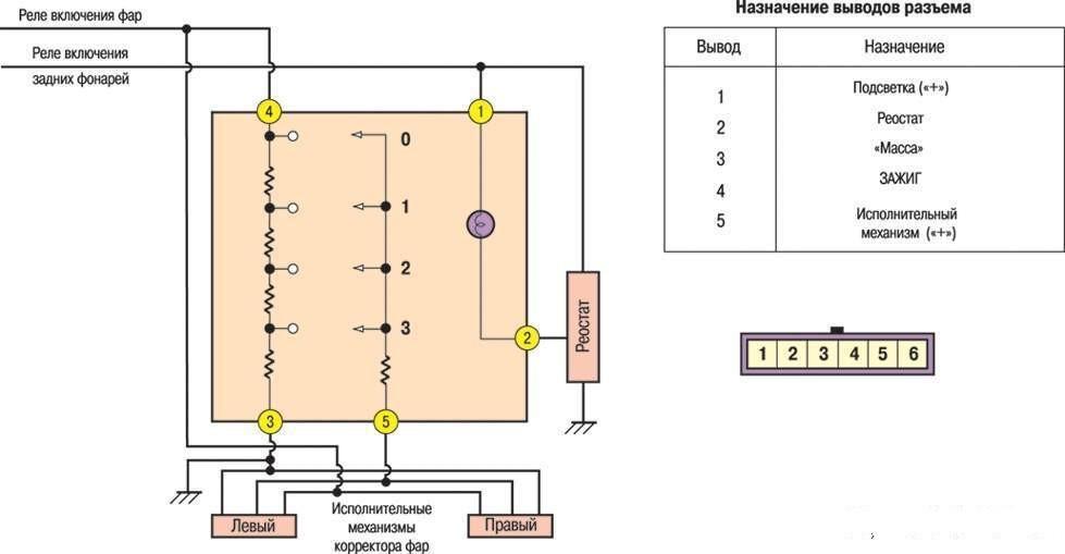Электросхема переключателя